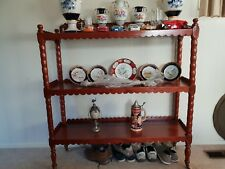 Antique Victorian Mahogany 3 Tier ' Dumb Waiter' Display Stand/Sideboard