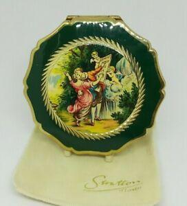 Stratton Queens Convertible Compact Victorian Dancing Lovers Cherubs Complete