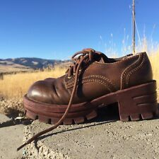 Soda Brown Faux Leather Size 6 Lace Up Women's Ankle Boots Shoes