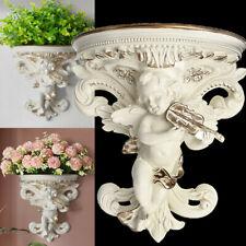 Wall Hanging  Flower Pot Cupid Angel Plaster Corbel Shelf Rococo Art Garden