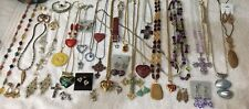 HUGE jewelry Lot Of Earrings, Necklaces, Watches, Brooches, Bracelets, Pendants