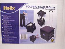 New listing Wheeled Folding Cart Folders Books Trunk Camping Shopping Tool Box Helix New