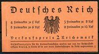GERMANY 2 RM  HINDENBURG BOOKLET COMPLETE  MICHEL#33  MINT NH  OG