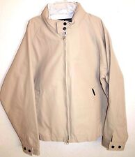 Men's Tommy Hilfiger Khaki Beige Tan Zipper Hidden Hood COAT Jacket Size L