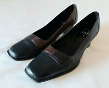 Women's Clarks Shoes Size UK 6 Euro 39 Blue/Brown  Leather Soft