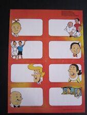 Suske & Wiske/Bob & Bobette - vel van 8 schoolstickers uit 1983