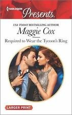 Required to Wear the Tycoon's Ring (Harlequin Large Print Presents), Cox, Maggie