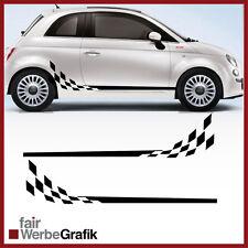 GT3 Look für alle Fiat 500 Modelle Racing Rennflagge Aufkleber #109