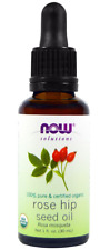 NEW NOW FOODS ORGANIC ESSENTIAL OILS AROMATHERAPY PURIFYING PURE ROSE HIP SEED