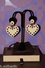 Louis Vuitton Ivoire Rendez-Vous HUGE Dangle Heart Spike Stud Earrings *LIMITED*