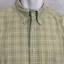 PENDLETON Shirt Plaid Short Sleeve Western light Green Sz Large Oxford Collar
