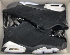 Jordan Retro VI 6 Low Black Chrome Silver Infrared 304401-003 Sz 11