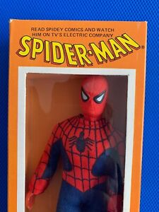 1976  Mego  SPIDERMAN in HIGH GRADE  ELECTRIC COMPANY BOX !!!! 5 digit new logo