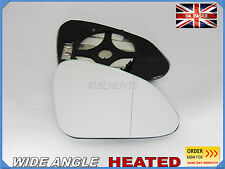 VAUXHALL INSIGNIA 2008-16 Wing Mirror Glass Wide Angle HEATED Right Side /F030