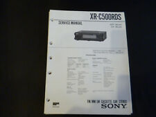 ORIGINALI service manual Sony xr-c500rds