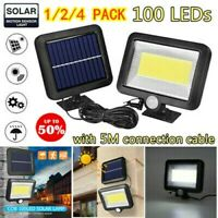 100 LED Solar Power Motion Sensor Garden Outdoor Floodlight PIR Security Light