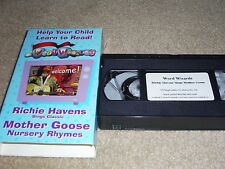 Word Wizards (VHS) 2001, Richie Havens sings Mother Goose, Playgroundz Prod.RARE