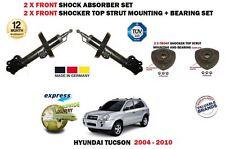 FOR HYUNDAI TUCSON 2004-> 2X FRONT SHOCK ABSORBER SHOCKER SET + STRUT MOUNTINGS