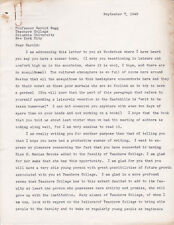 NEEDHAM, MA School Supt. HARRY BROWN - SIGNED LETTER to ED. Reformer HAROLD RUGG
