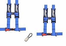 "PRP 4 Point Harness 3"" Seat Belt PAIR BLUE Bypass YAMAHA YXZ1000R YXZ 1000R 17"