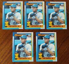 1990 Topps Baseball Lot Of 5~Ken Griffey Jr #336 NM-MT Bloody Scar Error Cards