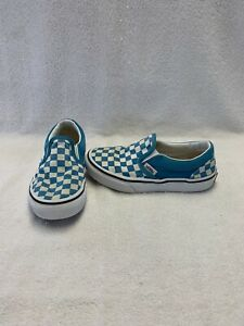 Vans Off The Wall Girls/Boys Blue/white Checkerboard Shoes~size 13 C
