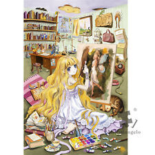 Wooden Jigsaw Puzzles 500 PCS Dream-drawing Girl Cartoon DIY Painting Toy Gift