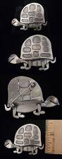 Vintage 1950s Beau Sterling Silver Turtle Tortoise Brooch Pin cf125