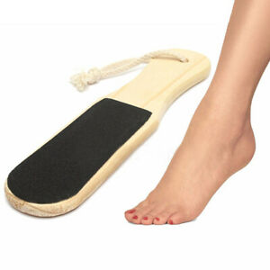 Double Sided Wooden Foot File Callus Rough Hard Skin Remover Tools C9O1