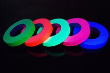 5 Pack 1 Inch UV Blacklight Reactive Fluorescent Gaffer Tape 5 Rolls x 50 Yards