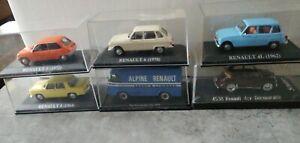Lot de 6 voitures miniatures RENAULT 1/43