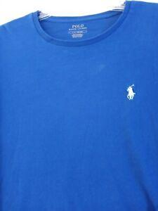 Mens Polo Ralph Lauren Pony Crew Neck Long Sleeve Navy Blue Shirt ~ Size Large