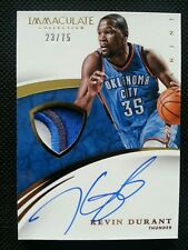 KEVIN DURANT 2014-15 PANINI IMMACULATE COLLECTION PATCH AUTO #23/75! AUTOGRAPH!