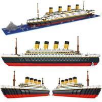 TITANIC Cruise Ship Boat Building Bricks Blocks 3D Model Kids Toys Re