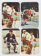 Lot of 4 1977-78 O-Pee-Chee OPC Glossy Inserts Bobby Clarke, Resch, Martin