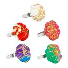 Pin Cushions Adjustable Ring Floral Finger Pincushion DIY Sewing Hot Sake xkj