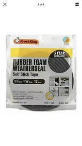 "Rubber Foam Weatherseal Black R534 3/4"" wide x 5/16"" thick x10' long NIP 2 PACKS"