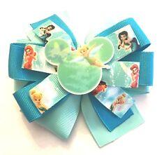 Tinkerbelle Fairy Inspired Girl's Baby Toddler Hair Bow Tinkerbelle Barrette