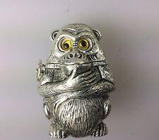 Monkey Match Vesta Case Silver Plated Lucky Monkey.