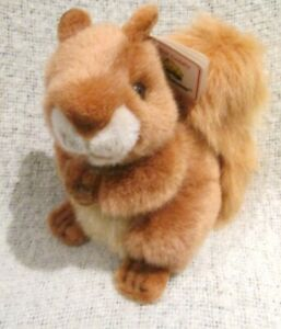 Deluxe A & A Aurora Chestnut Squirrel Plush Brown Stuffed Animal Toy with Tag