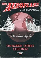 The Aeroplane Magazine Jan 1 6 1942, WW2 Issue, Simmonds Corsey Controls