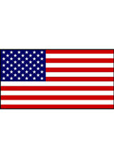 Stars and Stripes Plastic American Flag Bunting