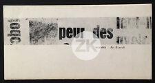 GIL J WOLMAN Plasticien Lettrisme ART-SCOTCH Galerie V. Schmidt Paris 1963