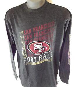 NEW Mens NFL Majestic San Francisco 49'ers Grey Long Sleeve Big & Tall NFL Shirt