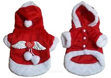Christmas Angel Halloween Dog Costume Removable Angels Wings For Small Dog Red