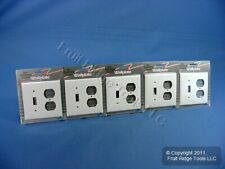 5 Leviton White UNBREAKABLE Switch/Outlet Wallplate Receptacle Covers 80705-W