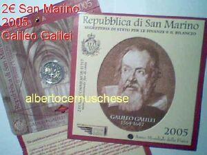La pièce de 2 euro SAINT MARIN 2005 en coffret GALILEI Galileo San Marino