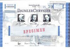 DaimlerChrysler AG SPECIMEN Stückaktie