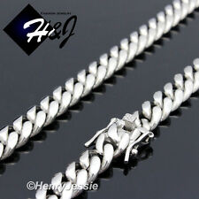 "8.5""MEN Stainless Steel 12x5mm Silver Miami Cuban Curb Link Chain Bracelet*B154"
