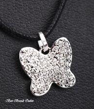 SWAROVSKI<>Swan Signed Butterfly Mini Crystal Pendant Necklace # 5020068<>NIB!